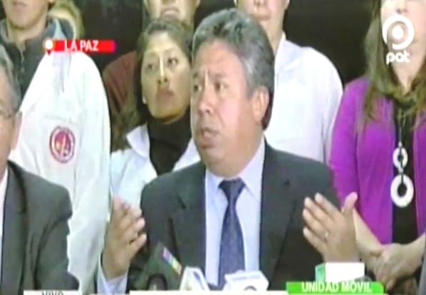 Luis Larrea en conferencia de prensa la noche de este jueves / CAPTURA PANTALLA