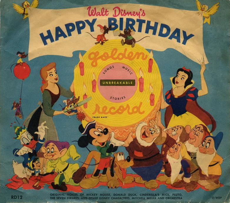Filmic Light Snow White Archive Golden Record Rd12 Walt Disney S Happy Birthday