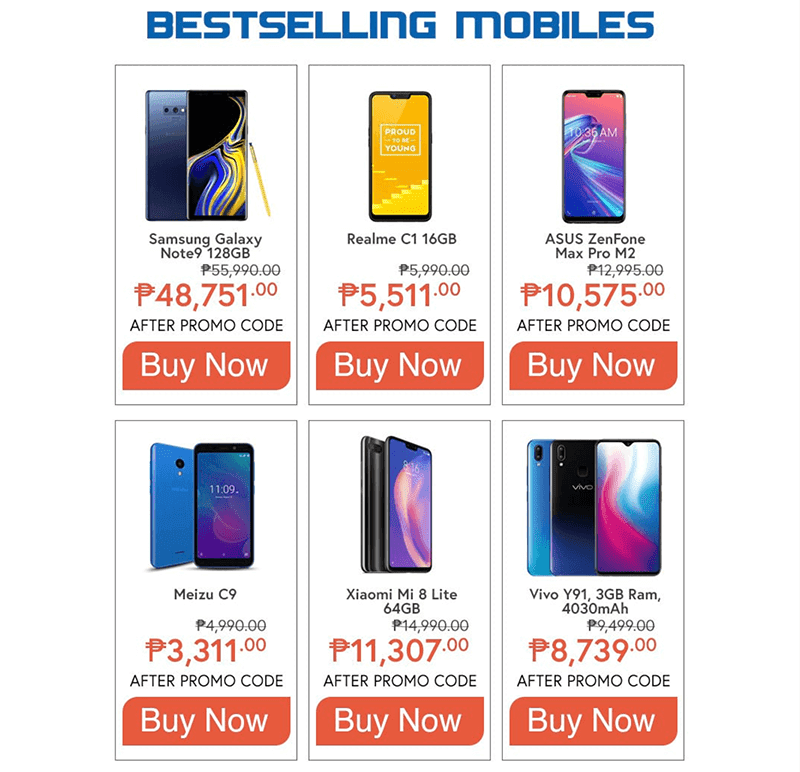 Some of the best selling mobile phones