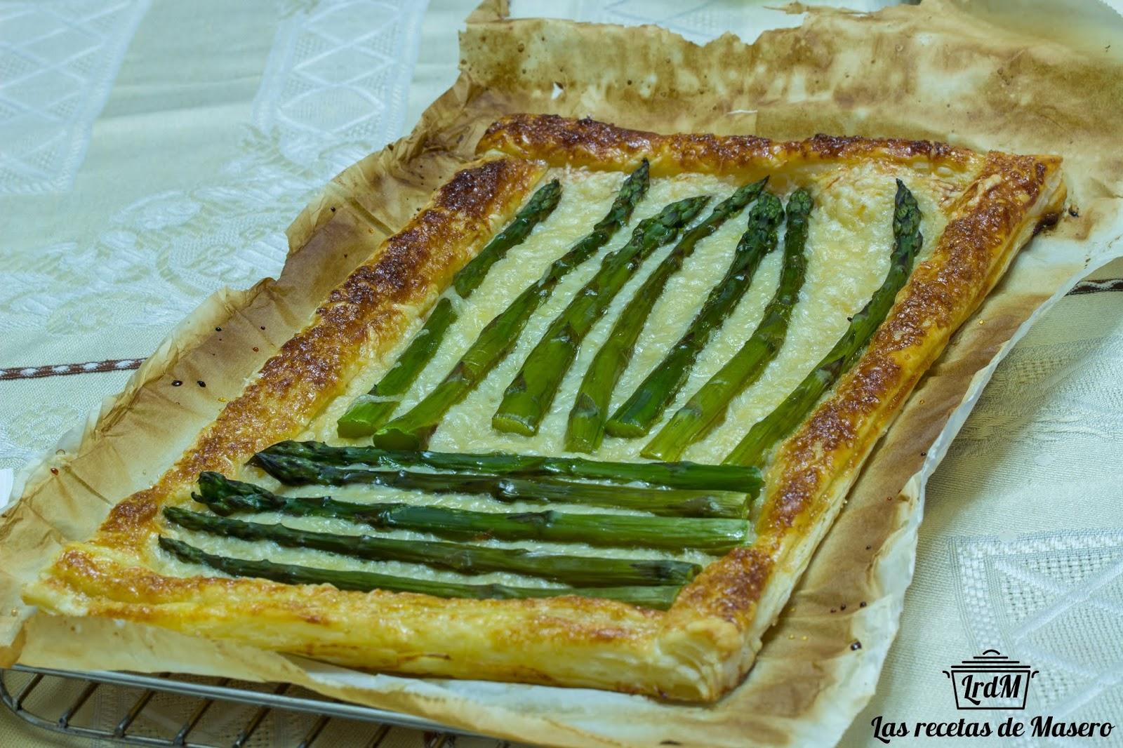 Las recetas de Masero: Hojaldre de espárragos trigueros