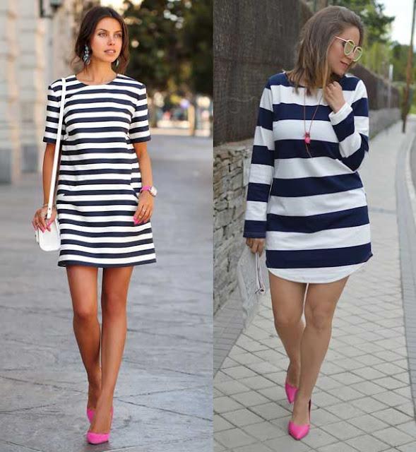 rayas vestidos actuales