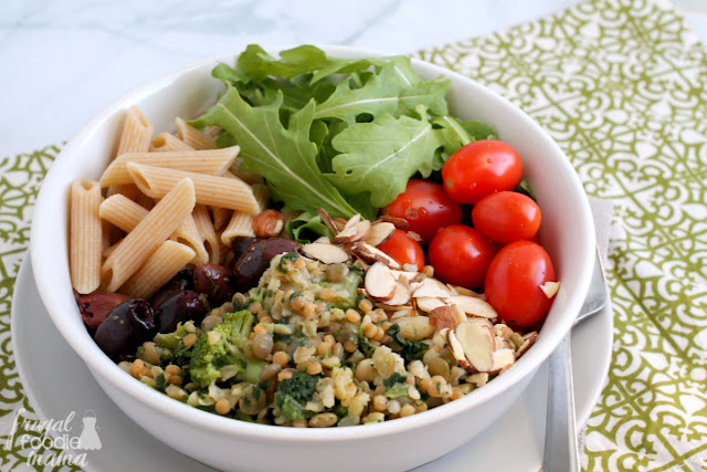 This easy to make Italian Style Buddha Bowl is a protein packed, family pleasing weeknight dinner idea.