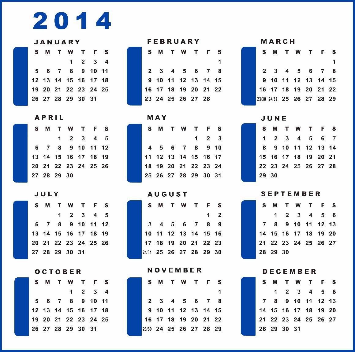 yearly planning calendar template 2014 - yearly calendar 2014 printable calendar 2014 blank
