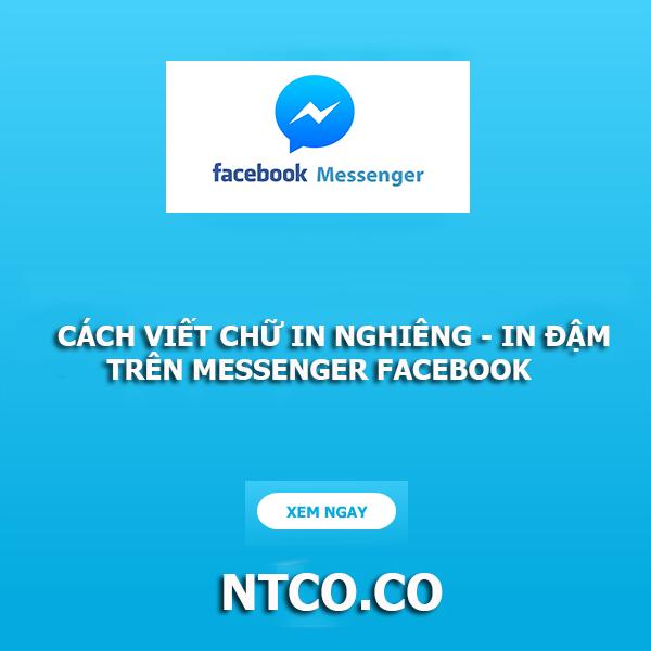 Cach viet chu da dang tren facebook messenger