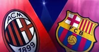 مباراة برشلونة و ميلان مباشر الآن في كأس الأبطال الدولية