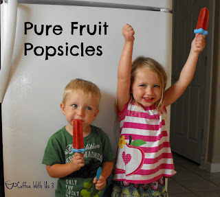 Pure fruit popsicles made with nothing but fruit!