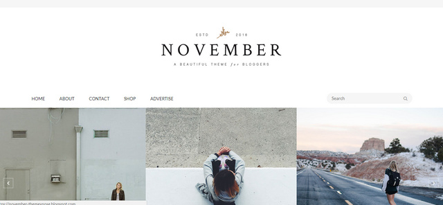 November Minimal And Responsive Blogger Templates