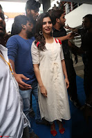 Samantha Ruth Prabhu Smiling Beauty in White Dress Launches VCare Clinic 15 June 2017 097.JPG
