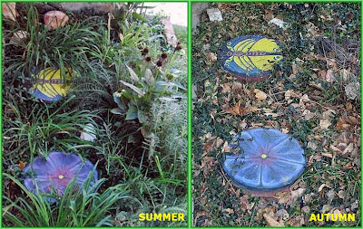 painted rocks, round, pavers, Summer, Autumn, Cindy Thomas