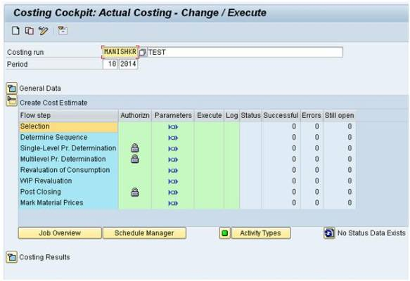 SAP FICO Central: Automation of Actual Costing Run (CKMLCP) in