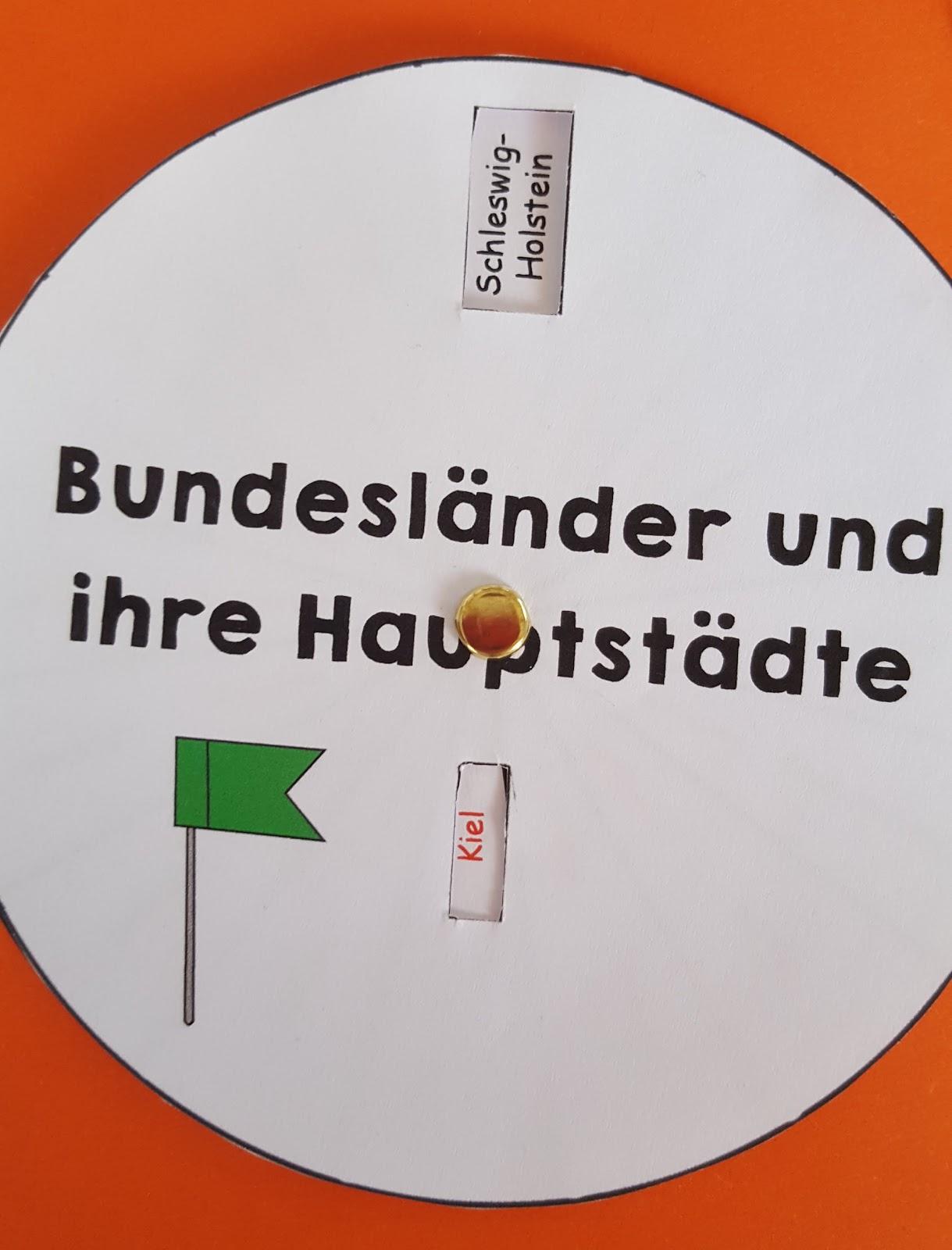Grundschultante: Lapbook Deutschland