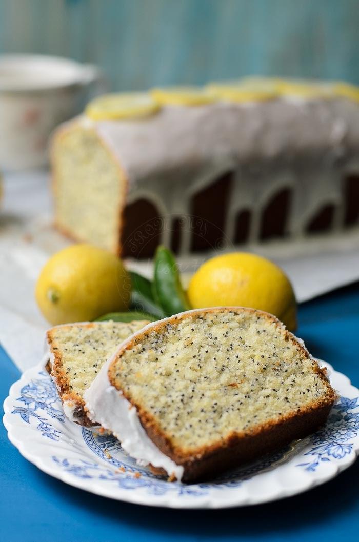 Delicious lemon poppy seed cake
