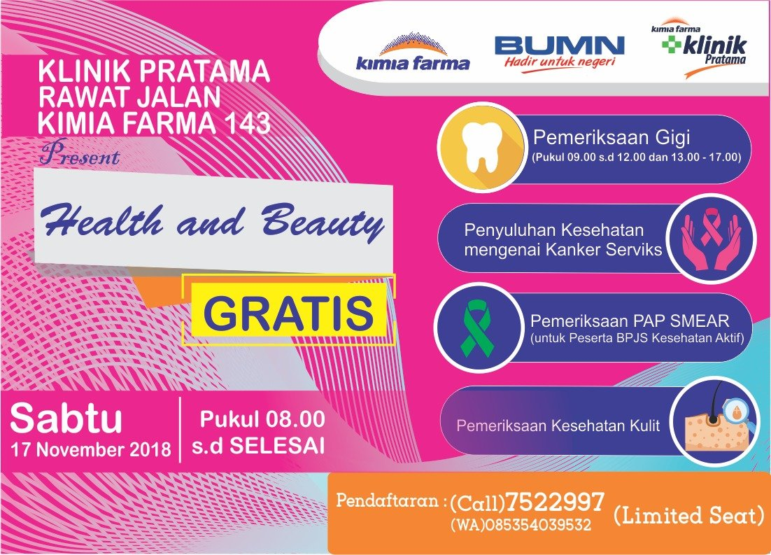 KimiaFarma - Promo Event Health and Beauty di Klinik Kimia Farma 143-Depok