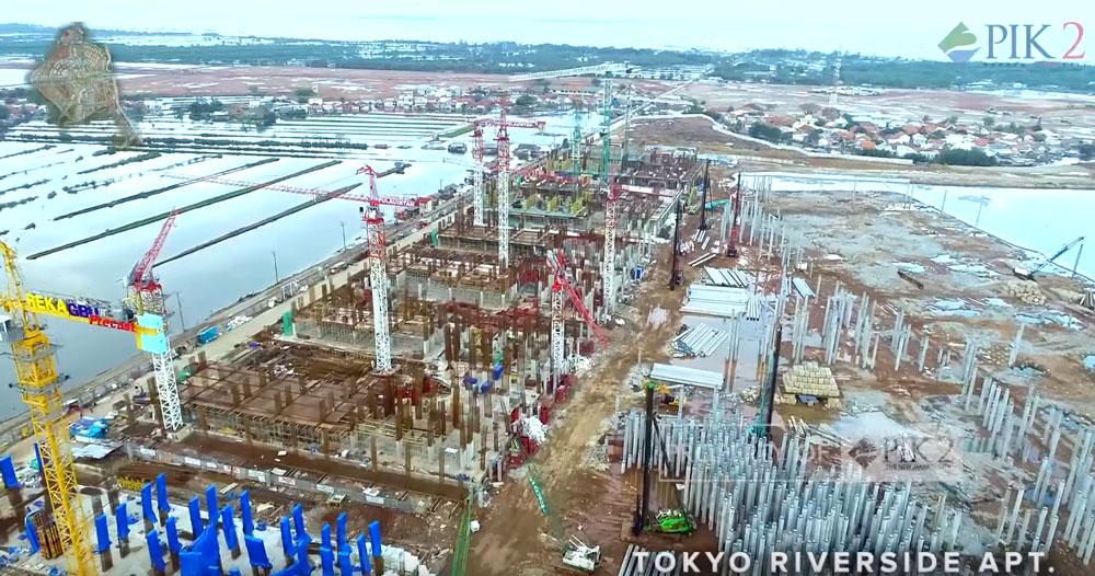 Progress Pemancangan Tokyo Riverside