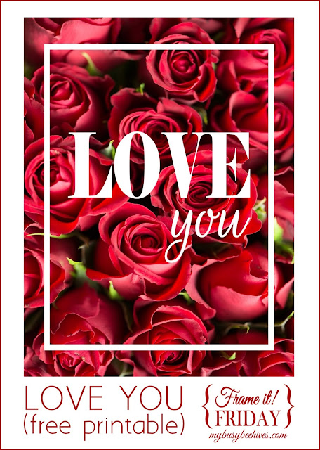 LOVE YOU... a free printable