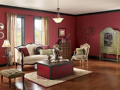 Interior design ideas living room paint