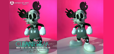 Deconstructed Mouse Mono Edition Disney Mickey Mouse Vinyl Figure by Matt Gondek x ToyQube x Avenue des Arts