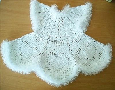 Платье для девочки - снежинка.