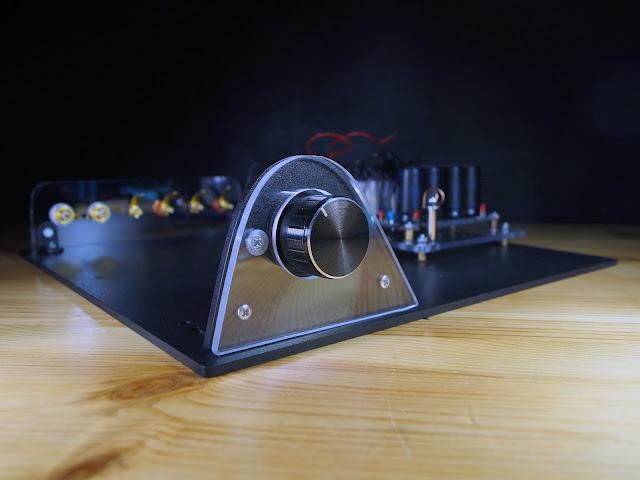 """Собранное шасси для усилителя на модулях """"Кристалл"""" (на микросхеме TDA7294)"""