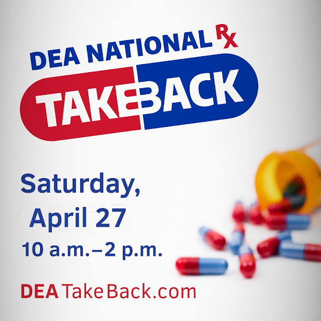 Discard unused prescription drugs on National Take Back Day at Mineola Walmart and Mineola Police  Department