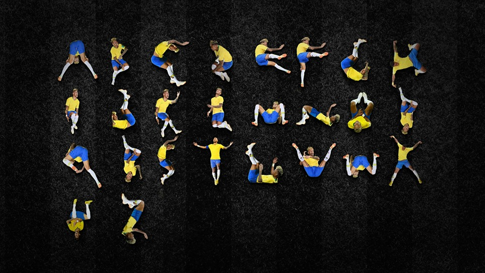 A fan has been inspired to try and make a Neymar alphabet