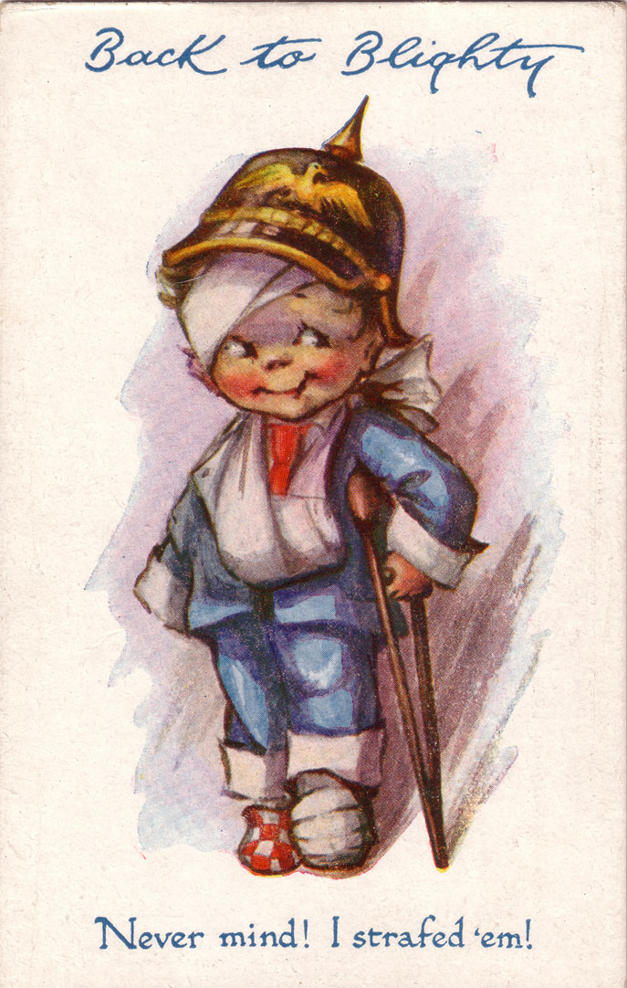 What Follows Are Examples Of Some The Many Blighty Themed Postcards In Distribution During First World War