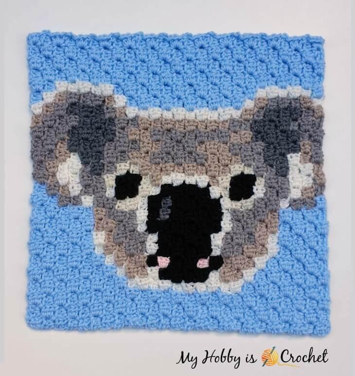 Koala C2C Square - Free Crochet Pattern