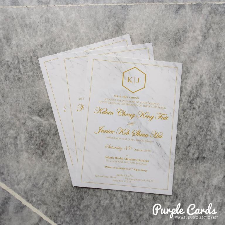 Marble Wedding Card Malaysia