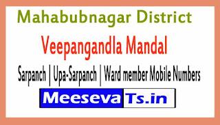 Veepangandla Mandal Sarpanch | Upa-Sarpanch | Ward member Mobile Numbers Mahabubnagar District in Telangana State