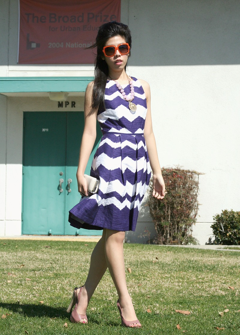 Adrienne Nguyen_What to Wear to a Spring Event_Platforms and Taylor Zig Zag Dress