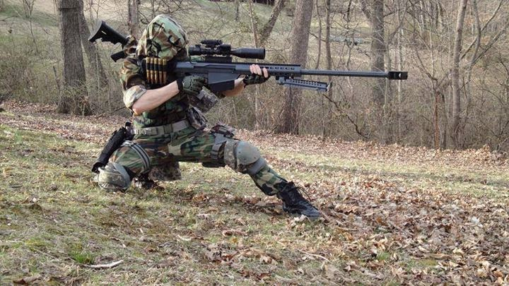 masked sniper shooter with barrett m107