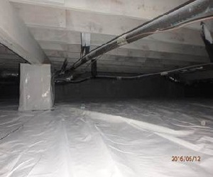 After Crawl Space Encapsulation - Delmarva Insulation