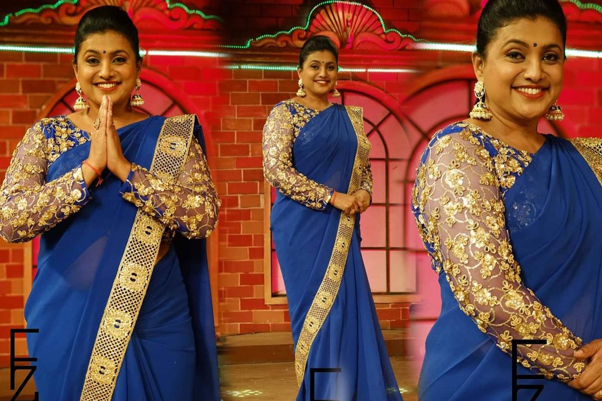 Actress Roja Selvamani in Stunning Photoshoot In Saree
