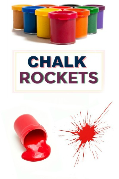 HOW TO MAKE CHALK ROCKETS: this is so cool!  #chalkrockets #chalkrecipe #playrecipesforkids #artsandcraftsforkids