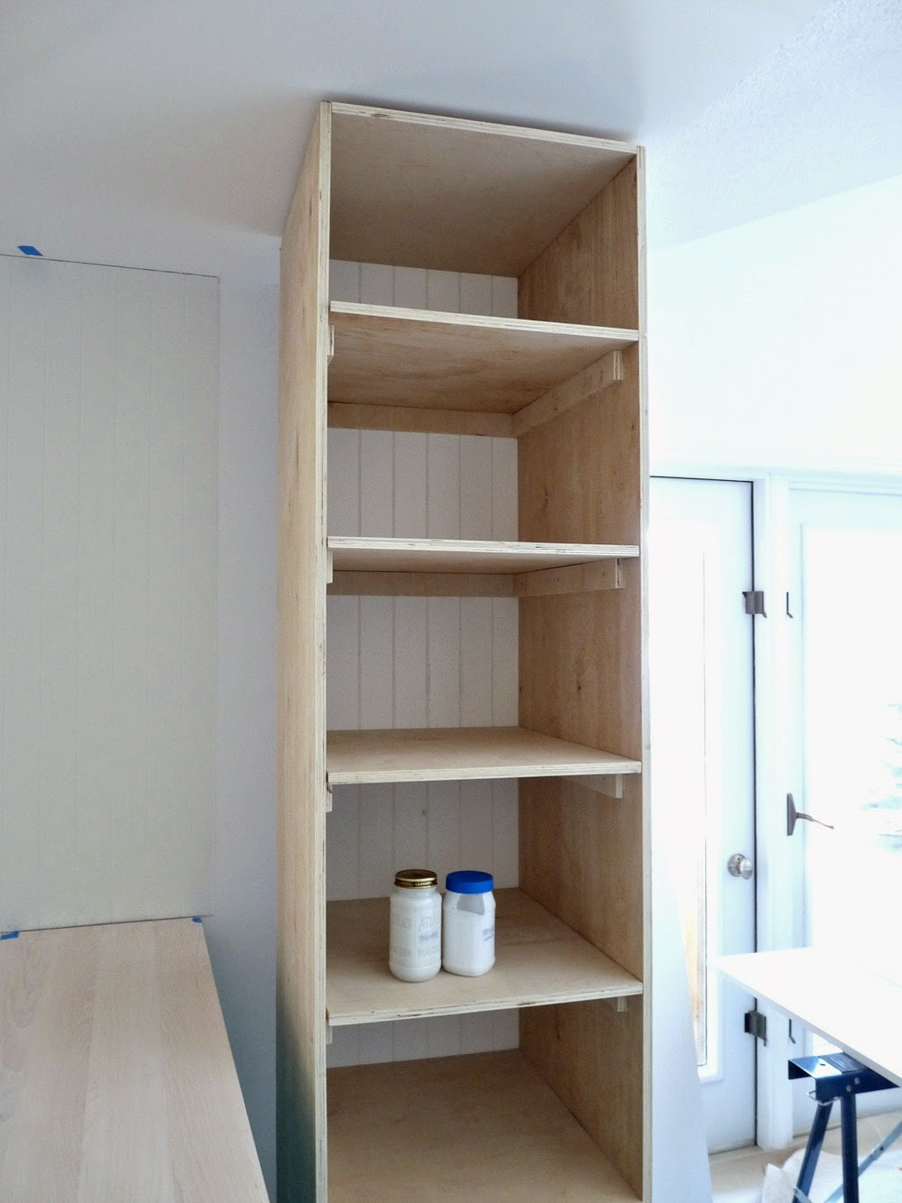 DIY Plywood Pantry with Shelves