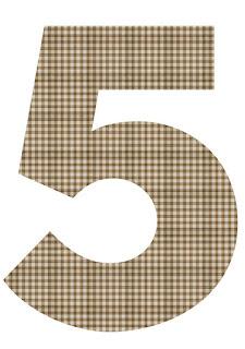 Numeros  para Imprimir Gratis de Vaquitas.