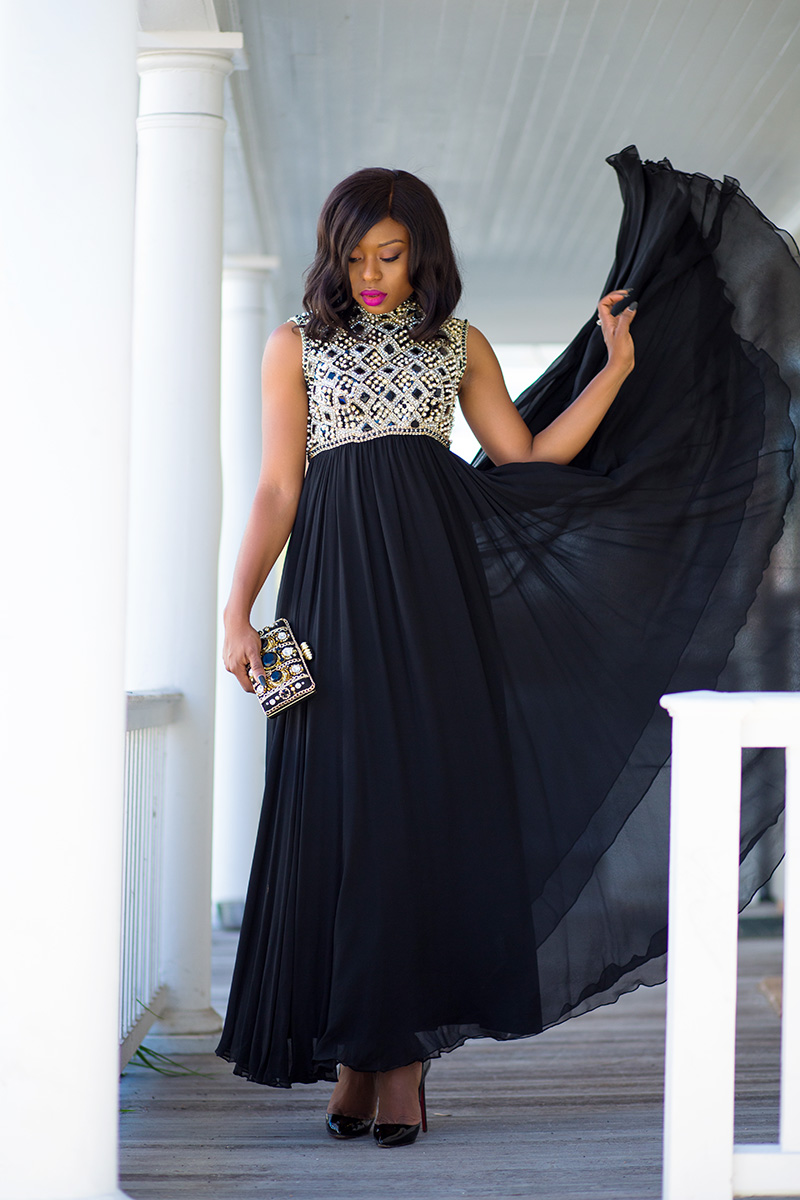 Maxi dress, black tie event, www.jadore-fashion.com