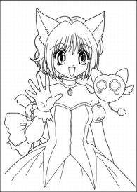 Transparent Anime Coloring Pages, HD Png Download , Transparent ... | 274x195