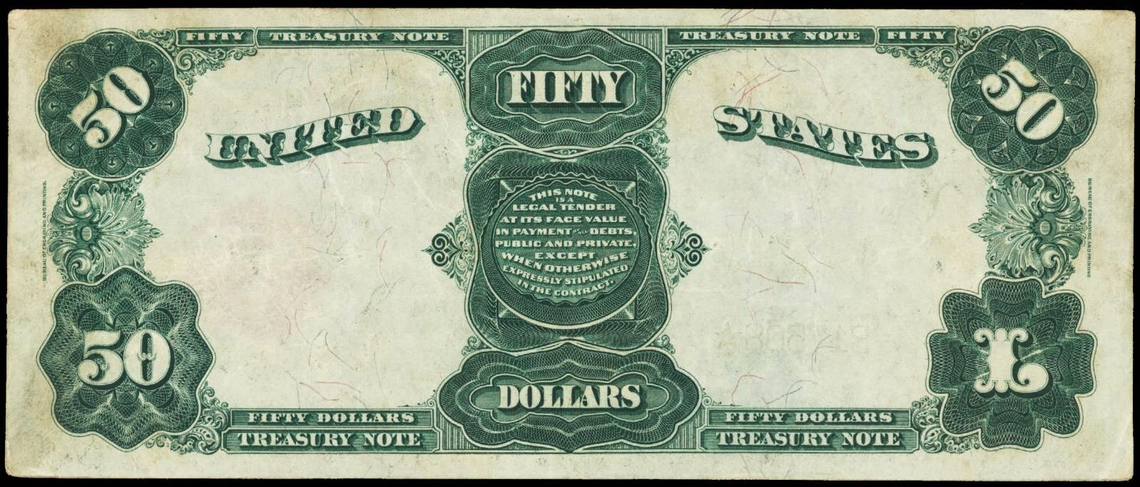 Fifty Dollar Treasury Note Series 1891