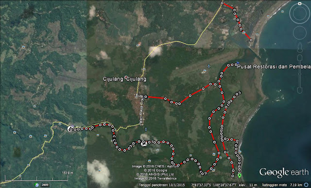 Ilustrasi jalan menuju PRPM Batu Karas.