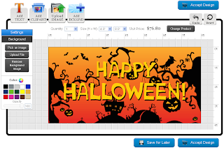 Halloween Banner Template in the Online Designer