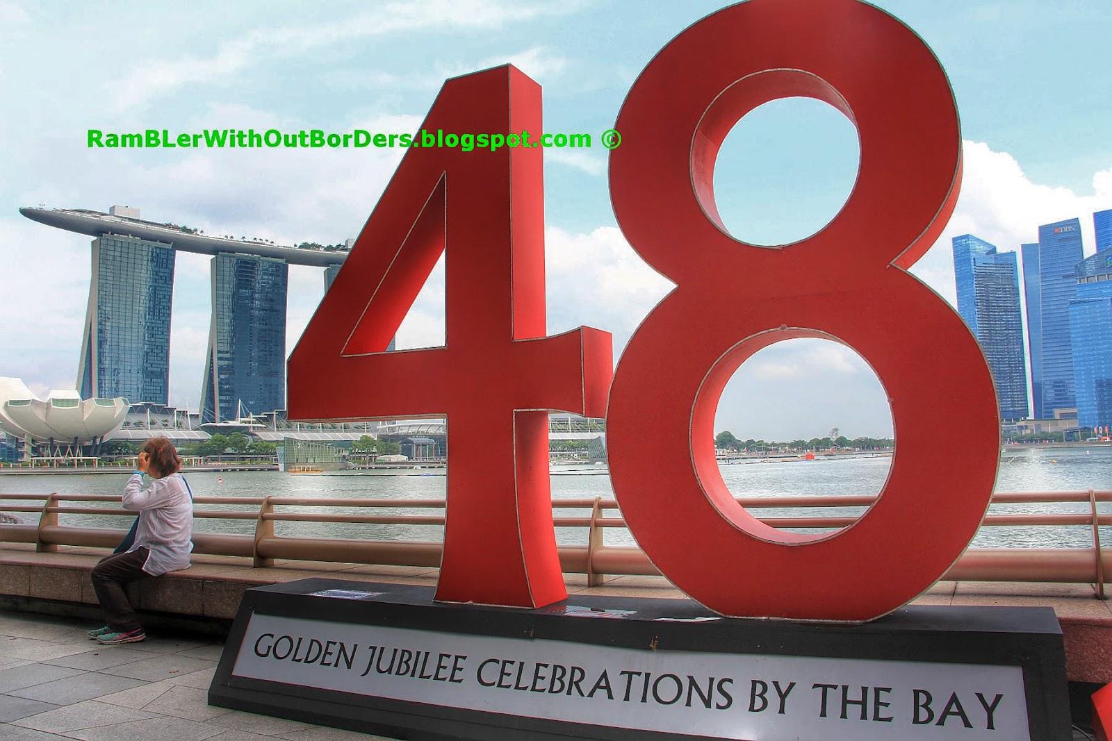 Year 48 milestone, SG50 NDP, Marina Bay, Singapore