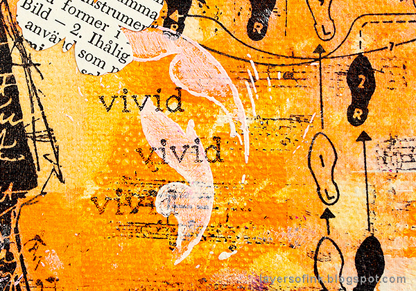 Layers of ink - Mixed Media Layers with Stencils and Stamps Canvas Tutorial by Anna-Karin Evaldsson