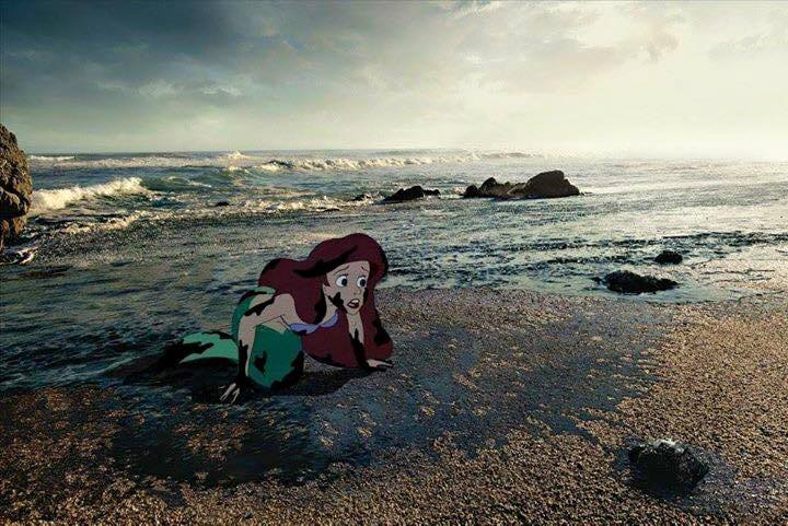 22 Startling Images Depict Life For Disney Characters In The Modern World