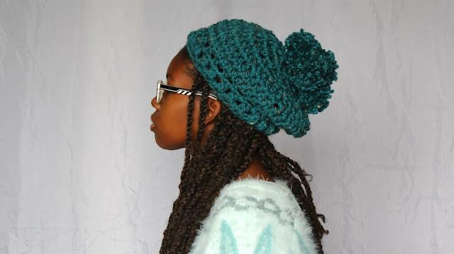 DIY // How To Crochet Chunky 4 Pom Pom Crochet Hat! Free Crochet Pattern!