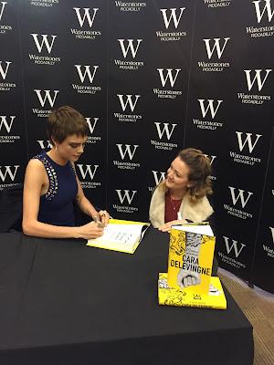 Cara Delevingne book signing
