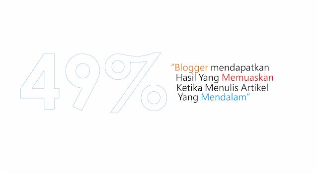 persentase kepuasaan blogger terhadap artikel