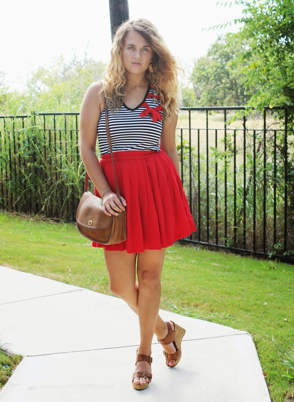 nautical-top-red-skater-skirt-bow-detailing