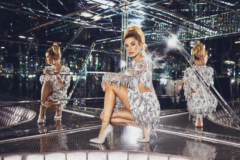 PrettyLittleThing Silver Tassel Sequin Bodycon Dress