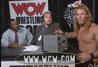 WCW Souled Out 1999 - Chris Jericho confronts Booker T
